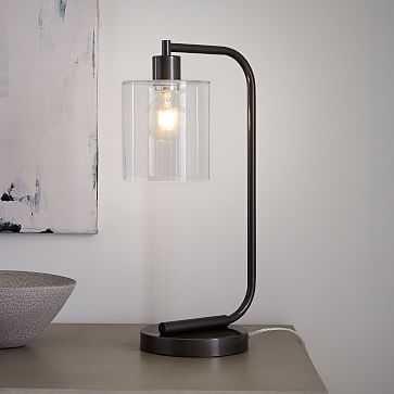 Lens Table Lamp + USB - West Elm