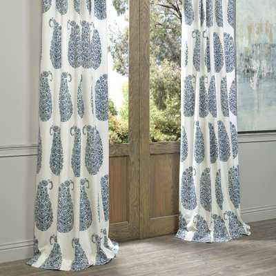 Altizer 100% Cotton Paisley Room Darkening Rod Pocket Single Curtain Panel - Birch Lane