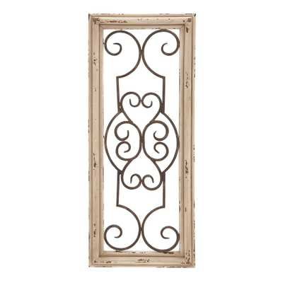 Wood and Metal Panel Wall Decor, Textured Wood - Home Depot