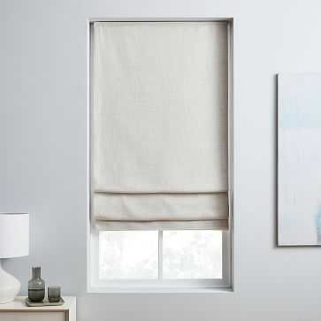 """Crossweave Cordless Shade, Blackout Lining, Natural Canvas 36""""x64"""" - West Elm"""