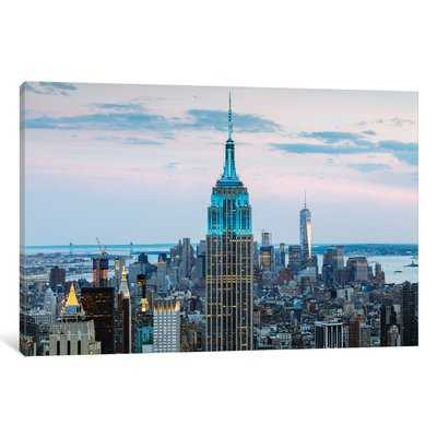 'Empire State Building at Dusk, Midtown, New York City, New York, USA' Photographic Print on Wrapped Canvas - Wayfair