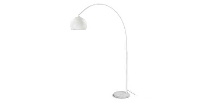 Crescent White Floor Lamp - Article