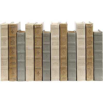 English Fine Leather Light 12 Piece Decorative Book Set - Wayfair