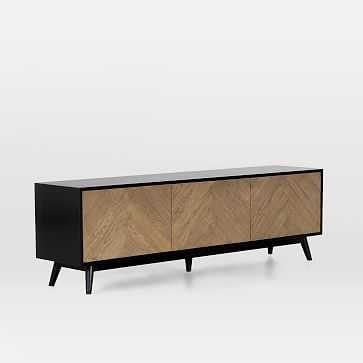 Chevron Oak Media Console - West Elm