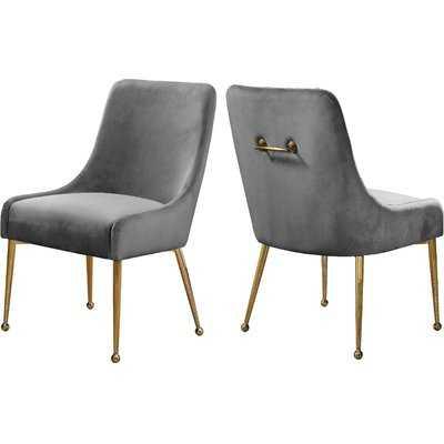 Stovall Velvet Upholstered Side Chair - AllModern