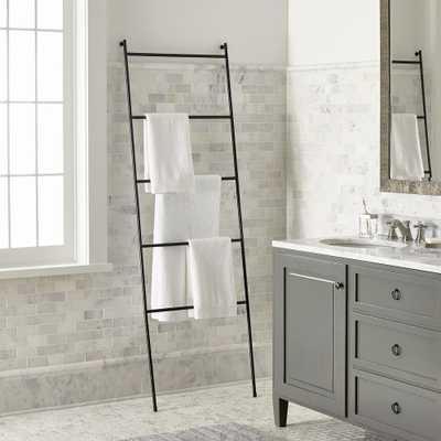 Jackson Black Towel Ladder - Crate and Barrel
