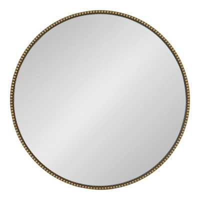 Gwendolyn Round Gold Wall Mirror - Home Depot