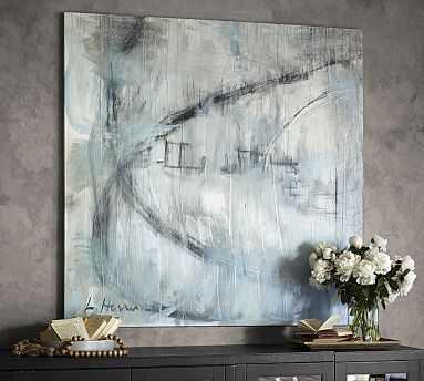 "Orbit Study #1 Framed Canvas, 36 x 36"" - Pottery Barn"