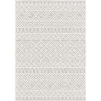"Coulonge Diamond Ivory Indoor/Outdoor Area Rug - 7'7"" x 10'8"" - Wayfair"