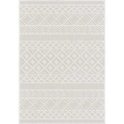"""Coulonge Diamond Ivory Indoor/Outdoor Area Rug - 7'7"""" x 10'8"""" - Wayfair"""
