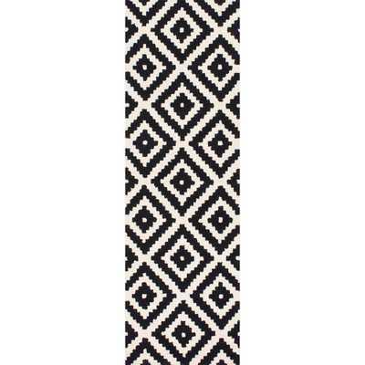 Kellee Black 3 ft. x 8 ft. Runner Rug - Home Depot