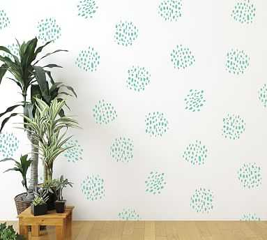 Dot Clusters Wall Decal, Mint - Pottery Barn