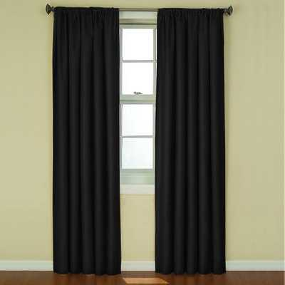 Eclipse Kendall Blackout Black Curtain Panel, 95 in. Length - Home Depot
