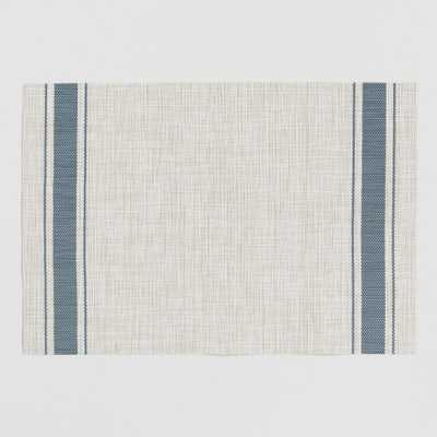 Blue Bistro Stripe Woven Vinyl Placemats Set of 4 by World Market - World Market/Cost Plus