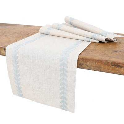 Truesdale Cute Leaves Crewel Embroidered Table Runner - Birch Lane