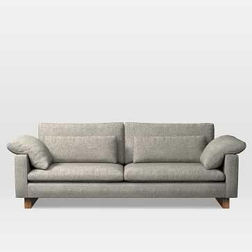 "Harmony Grand 92"" Sofa, Twill, Gravel - West Elm"