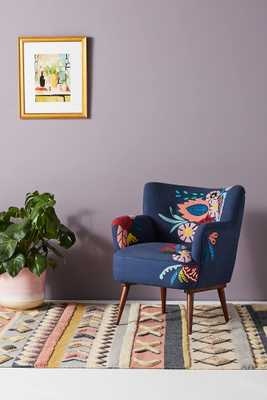 Felted Floral Accent Chair - Anthropologie