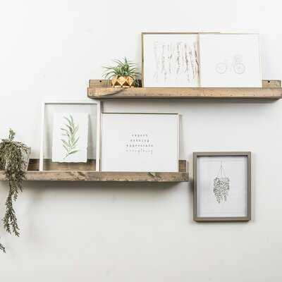 Benevides Shallow Rustic Luxe 2 Piece Wall Shelf Set - AllModern