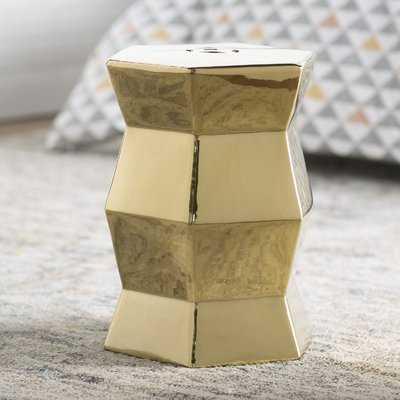 Cyra Hexagon Ceramic Garden Stool - AllModern