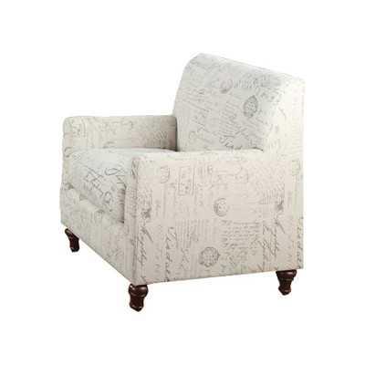 Axelle Linen Blend Chair - Wayfair