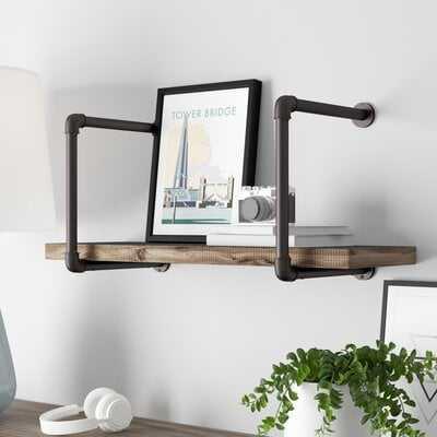 Mallie Industrial Pipe Wall Shelf - Wayfair