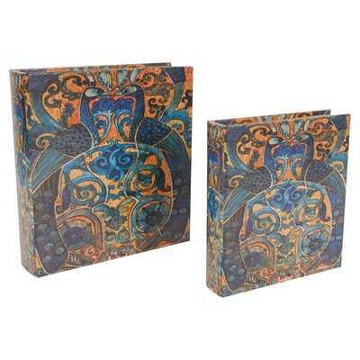 2 Piece Peacock Book Decorative Box Set - Wayfair