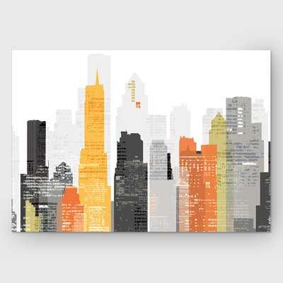 'Element City' by Katrina Craven Graphic Art on Wrapped Canvas - Wayfair