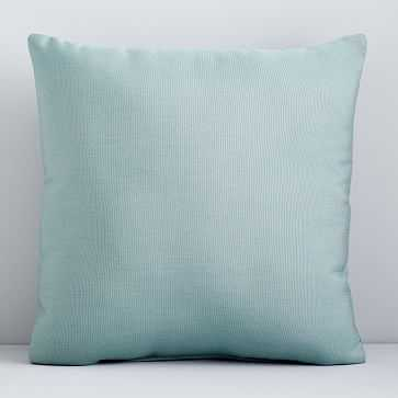 "Sunbrella Indoor/Outdoor Canvas Pillow, Spa, 18""x18"" - West Elm"