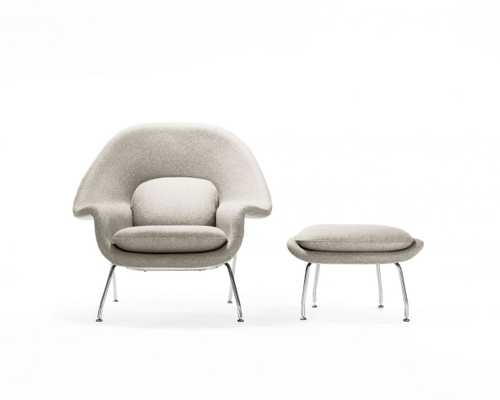 Womb Chair And Ottoman - Smoky Quartz - Rove Concepts