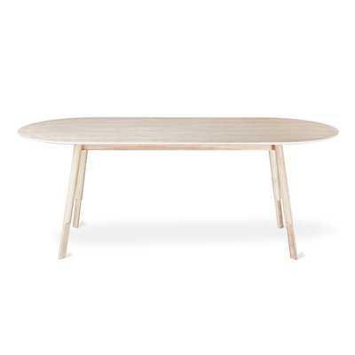 Bracket Dining Table Oval Base Walnut - Wayfair