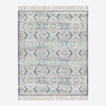 MTO Campo Rug, Blue Teal, 8x10 - West Elm