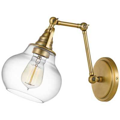 "Quoizel Elmdale 11""H Weathered Brass Adjustable Wall Sconce - Style # 67V22 - Lamps Plus"