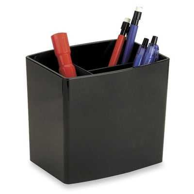 Pencil Holder, Large, 3 Compartmentss, Black - Wayfair