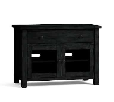Benchwright TV Stand, Small, Blackened Oak - Pottery Barn