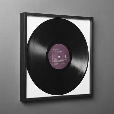 Gallery Black Record Frame with White Mat - CB2