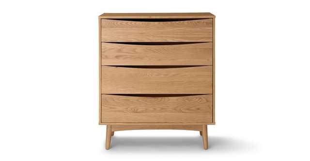 Culla Oak 4 Drawer Dresser - Article