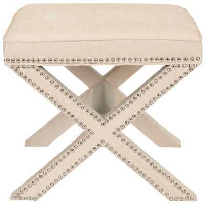Palmer Taupe Accent Ottoman - Home Depot