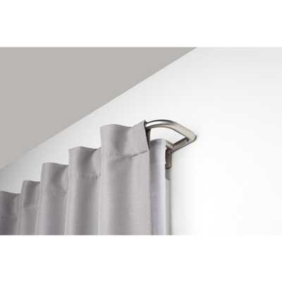 Umbra Twilight Double 3/4 in. in Rod 48 in. - 88 in. in Matte Nickel - Home Depot