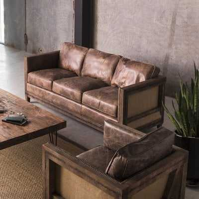 Sherly Leather Sofa - Wayfair