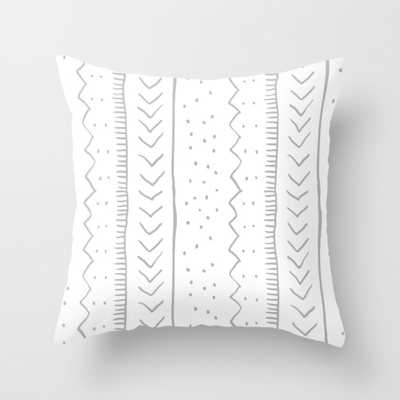 "Moroccan Stripe in Grey Throw Pillow - Indoor Cover (24"" x 24"") with pillow insert by Beckybailey1 - Society6"
