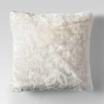 Cream (Ivory) Faux Fur Oversized Throw Pillow - Threshold - Target