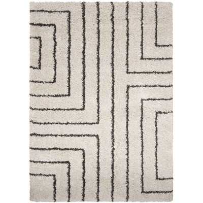 Swampscott White & Charcoal Area Rug - Wayfair