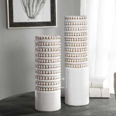 Canaan 2 Piece Table Vase Set - Wayfair