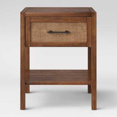 Warwick Wood & Rattan Accent Table - Threshold, Brown - Target