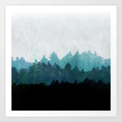 Woods Abstract Art Print - X-Large by Maboe - Society6