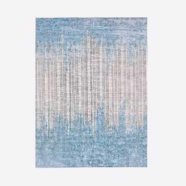 Echo Print Rug, Dusty Blue, 9'x12' - West Elm