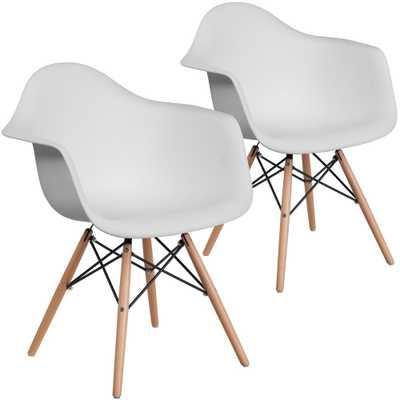 Carnegy Avenue White Plastic Party Chairs (Set of 2) - Home Depot