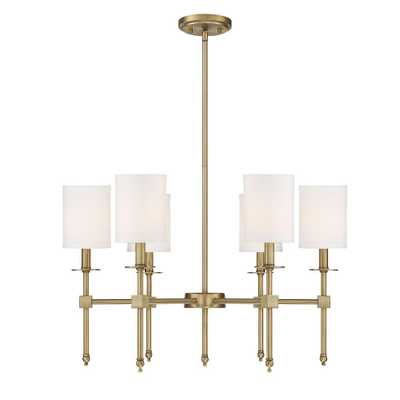 Filament Design 6-Light Warm Brass Chandelier - Home Depot