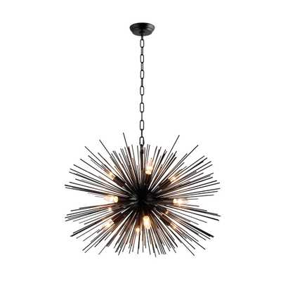 Y Decor 12-Light Black Sputnik Chandelier - Home Depot