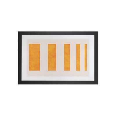 "Modern Art - Orange Levies - Picture Frame Graphic Art Print on Canvas, 16x24"", Black Framed - AllModern"